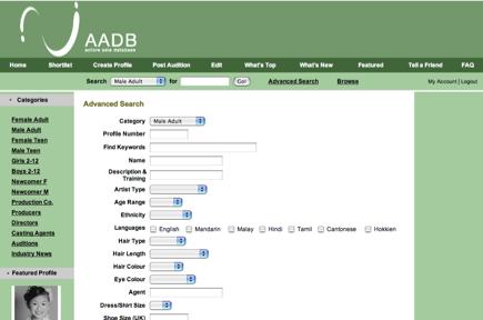 Aadb Asia 39 S Leading Online Talent Directory Website Tour